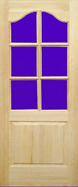 Дверное полотно модель М3 под стекло сосна
