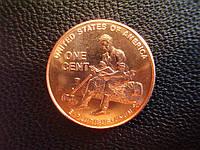 1 цент 2009 года США, «Юность Авраама Линкольна(Годы в Индиане)»