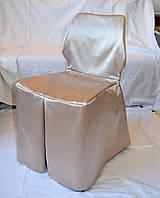 Чехол на нестандартный стул с поясом Бежевый, фото 1