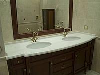Столешница для ванной комнаты из кварца, искусственного камня