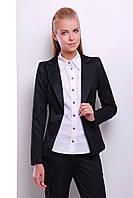 Женский классический пиджак на одну пуговицу черного цвета