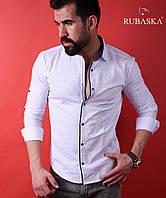 Мужская рубашка с длинным рукавом.  RSK-3002
