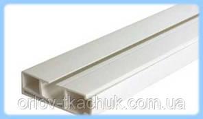 1-но полосный  усиленный пластиковый потолочный карниз для штор СМУ-1