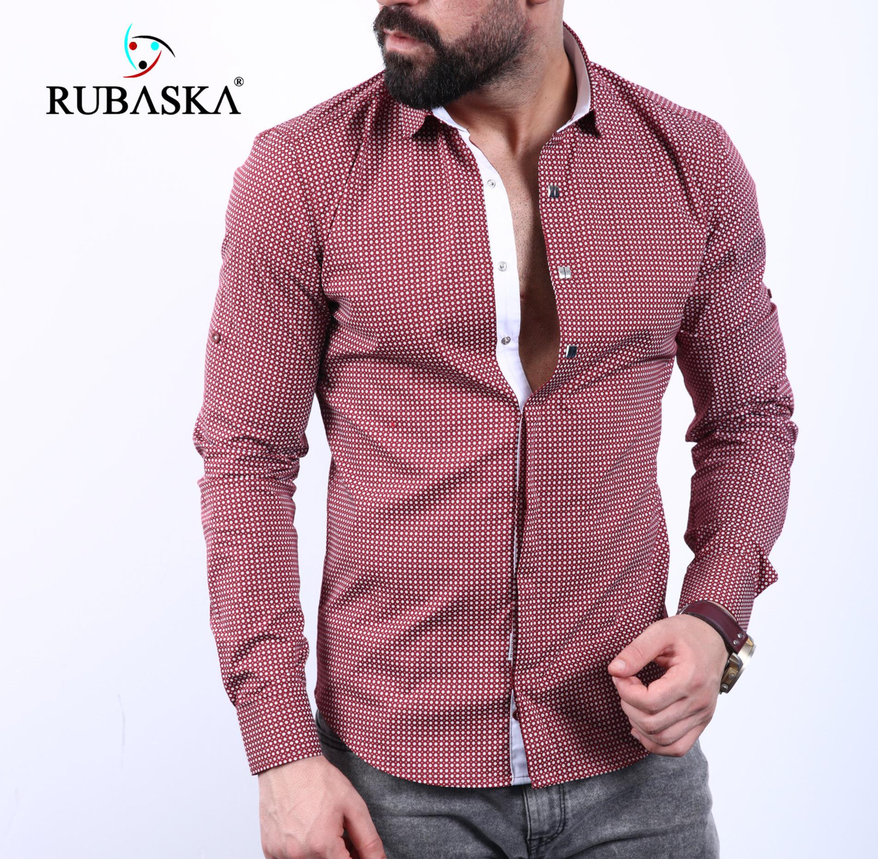 13244491d31 Мужская рубашка с длинным рукавом Турция. RSK-3003  продажа