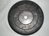 Диск для штанги Barbel прогумований 10 кг