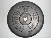 Диск для штанги Barbel прогумований 15 кг