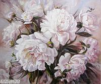 Картины художников. Живопись маслом цветы Белые пионы. Декорирование дома.