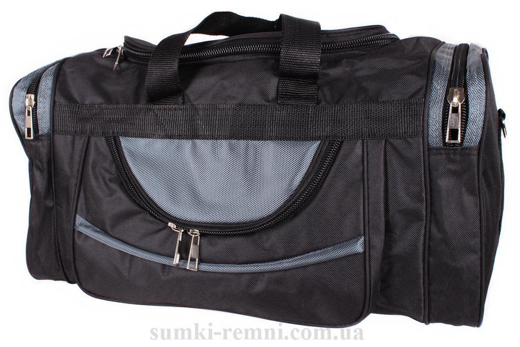Мужская дорожная текстильная сумка 83-50 gray черная