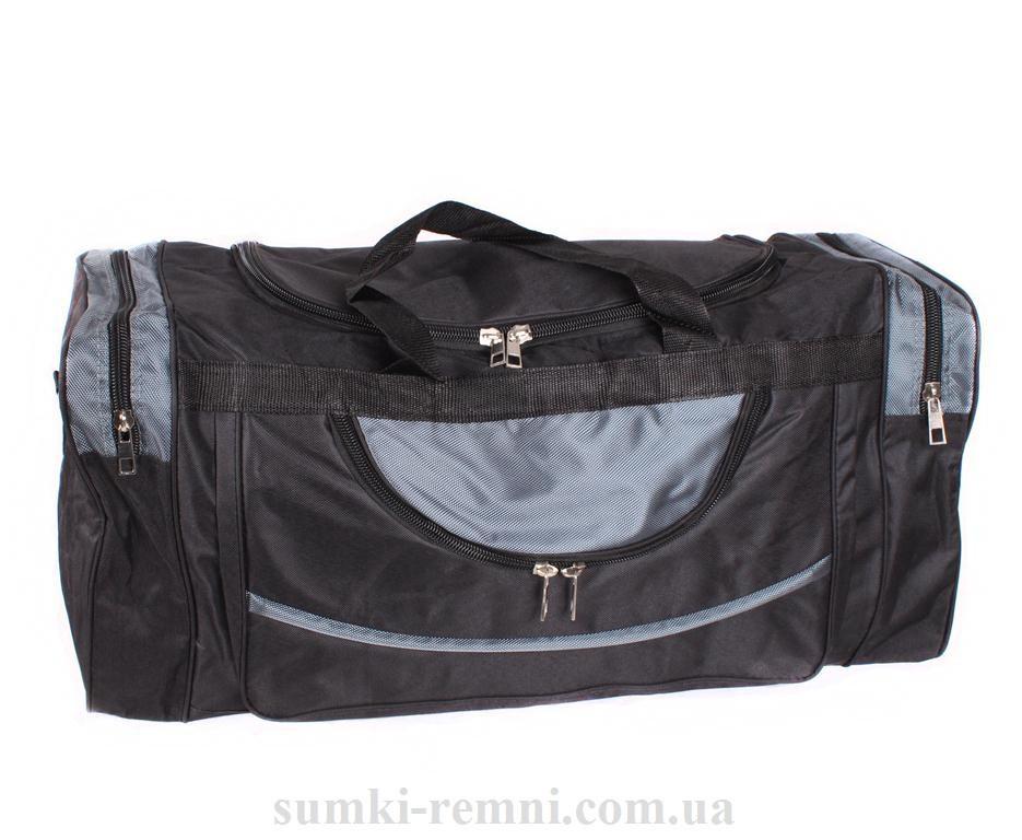 Мужская дорожная текстильная сумка 83-70 черная