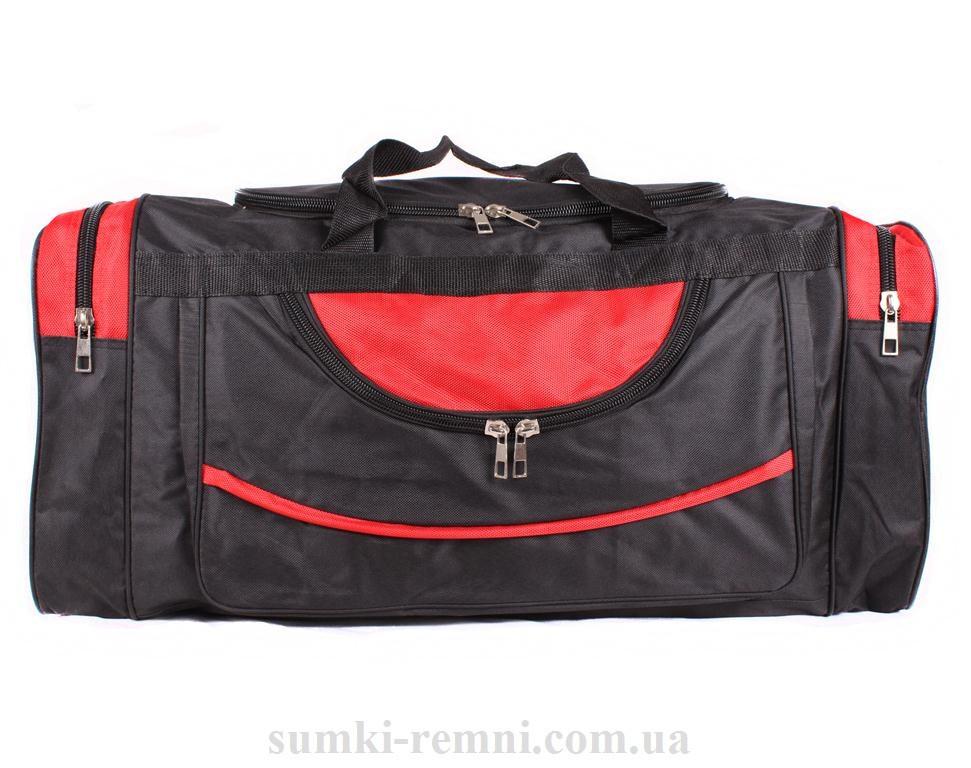 Мужская дорожная текстильная сумка 83-70 red  черная