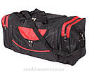 Мужская дорожная текстильная сумка 83-70 red  черная, фото 2