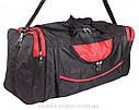 Мужская дорожная текстильная сумка 83-70 red  черная, фото 3