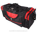 Мужская дорожная текстильная сумка 83-70 red  черная, фото 4