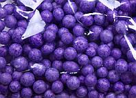 Пенопластовые шарики (вес 10g, диаметр 7mm)  для рукоделия, творчества и декора фиолетовые