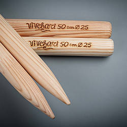 Толстые спицы для вязания 25 мм, 50 см ТМ Vivchari