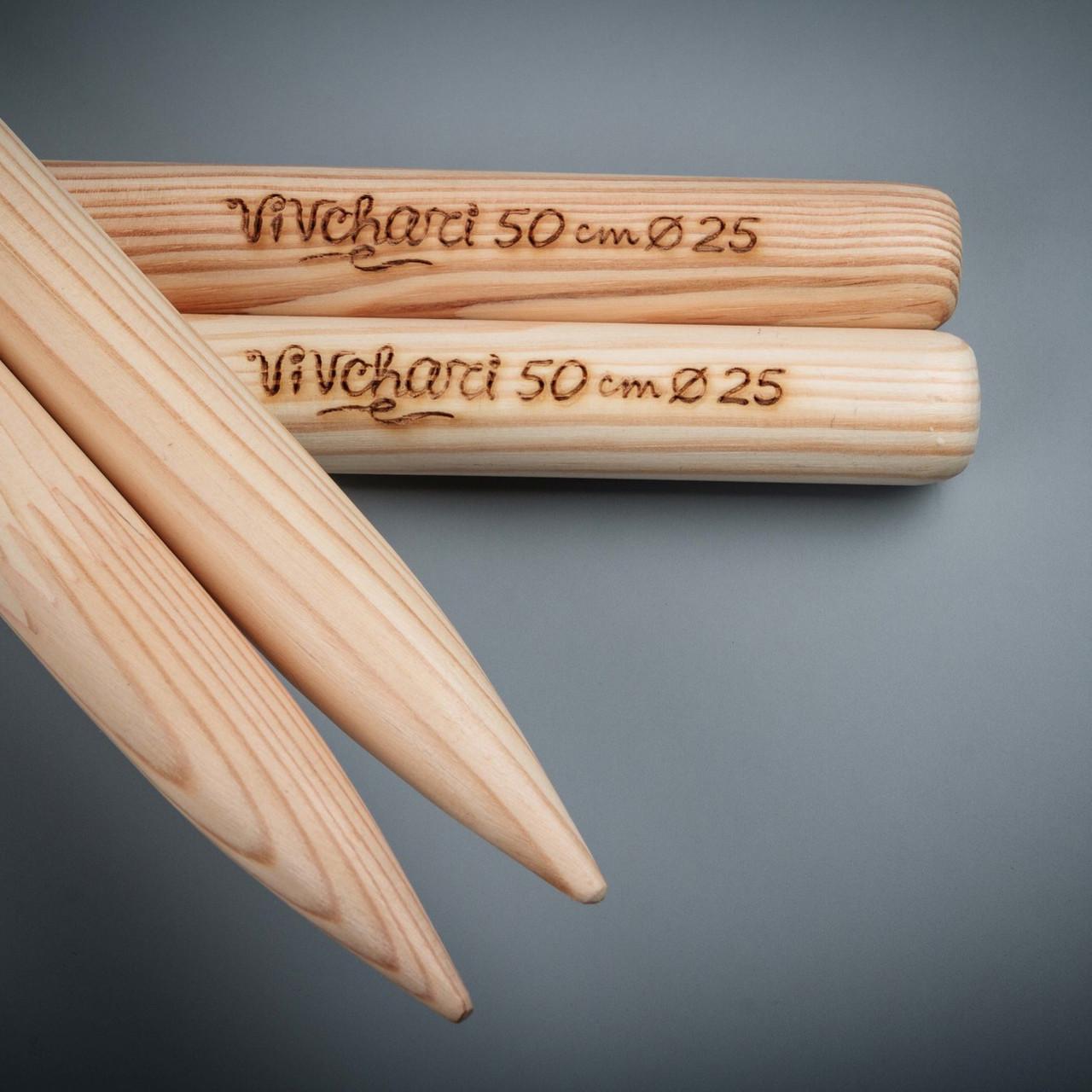 толстые спицы для вязания 25 мм 50 см тм Vivchari цена 195 грн