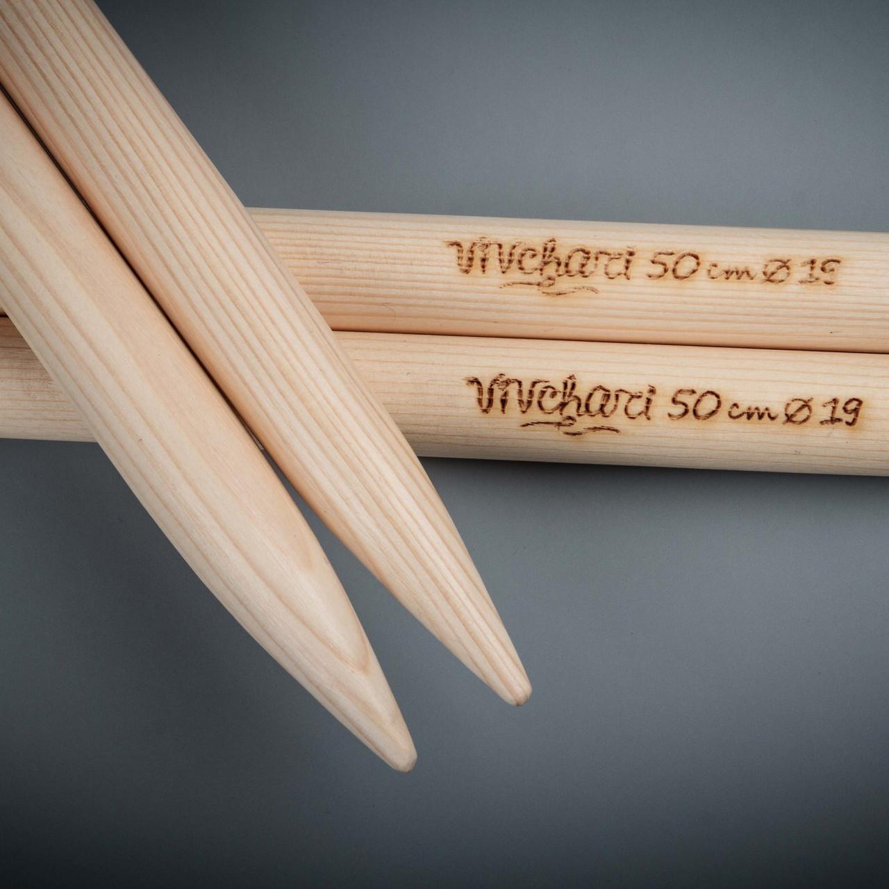 толстые спицы для вязания 20 мм 50 см тм Vivchari цена 175 грн