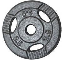 Диск для штанги металл, порошковая окраска 2,5кг
