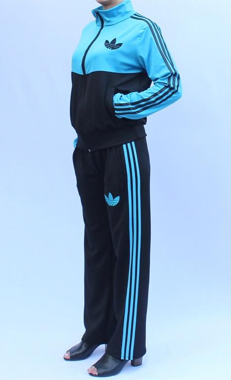 - спортивный костюм с воротником - бирюзовый верх -