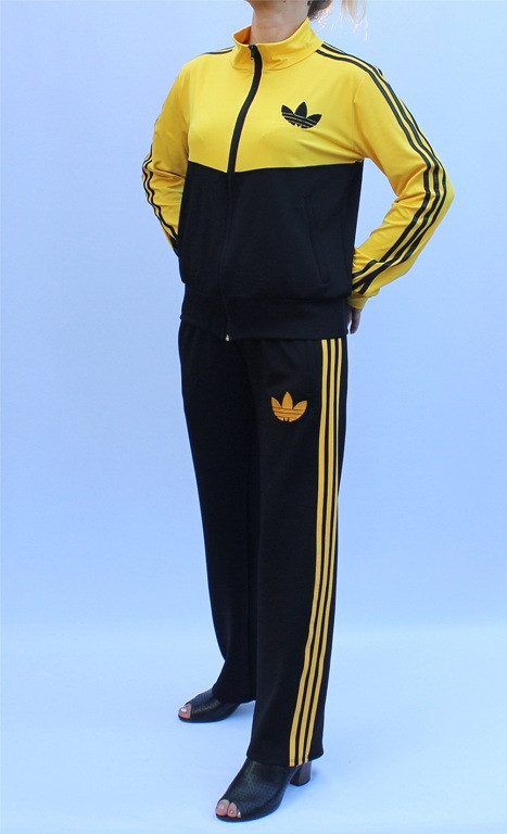 - спортивный костюм с воротником - желтый верх -