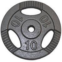 Диск для штанги метал, порошкове забарвлення 10 кг