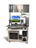 Передвижной компьютерный стол  СК-5, 90*80 дуб молочный+ венге магия