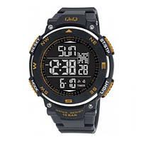Часы мужские Q@Q  Outdoor Gear 10Bar можно нырять, m124j806y, gold