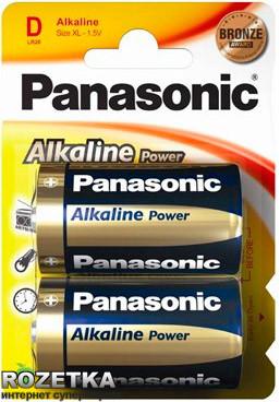 Батарейка Panasonic ALKALINE POWER D BLI 2