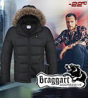 Мужская зимняя куртка с меховым капюшоном