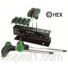 Набор шестигранников с ручкой  TOPTUL GAAX0801  L-обр. 2-10 мм 8 ед.