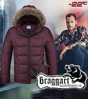 Мужская куртка с меховым капюшоном