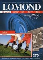 Lomond Атласная ( Satin ) микропористая фотобумага для струйной печати, 10x15, 270 г/м2, 20 листов
