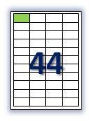 Бумага самоклеющаяся формата А4.Этикеток на листе А4: 44 шт. Размер: 48,5х25,4 мм. От 115 грн/упаковка*