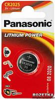 Батарейка Panasonic CR 2025 BLI 1 LITHIUM
