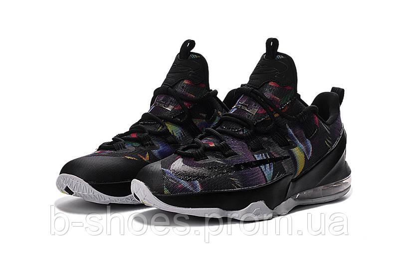Мужские баскетбольные кроссовки Nike LeBron 13 Low (Black/Cosmic Purple-White)
