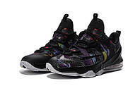 Мужские баскетбольные кроссовки Nike LeBron 13 Low (Black/Cosmic Purple-White), фото 1