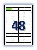 Бумага самоклеющаяся формата А4. Этикеток на листе А4: 48 шт. Размер: 45,7х21,2 мм. От 115 грн/упаковка*