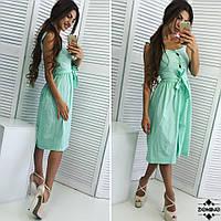 Платье-сарафан с пуговицами, фото 1