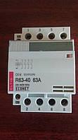 Контактор модульный на DIN-рейку R63-40, 63А, модульный пускатель eltis