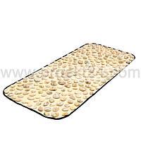 Детский массажный коврик с натуральной гальки 90х40 см