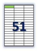 Бумага самоклеющаяся формата А4. Этикеток на листе А4: 51 шт. Размер: 70х16,9 мм. От 115 грн/упаковка*