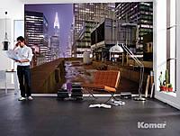 "Фотообои  ""Вид с крыши на город"" 368х254 см  , фото 1"