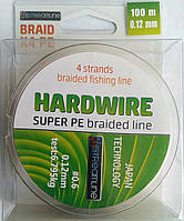 Шнур STREAMLINE HARDWIRE 100m 0.12mm dark green 4-жильный