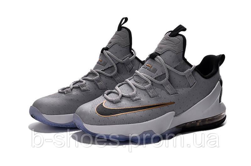 Мужские баскетбольные кроссовки Nike LeBron 13 Low (Grey Golden)