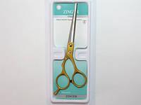 Ножницы парикмахерские, белый металл, золотые ручки 26_1_62a3