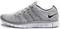 """Мужские кроссовки Nike Free Flyknit NSW """"Light Grey"""", найк"""