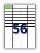 Бумага самоклеющаяся формата А4. Этикеток на листе А4: 56 шт. Размер: 52,5х21,2 мм. От 115 грн/упаковка*