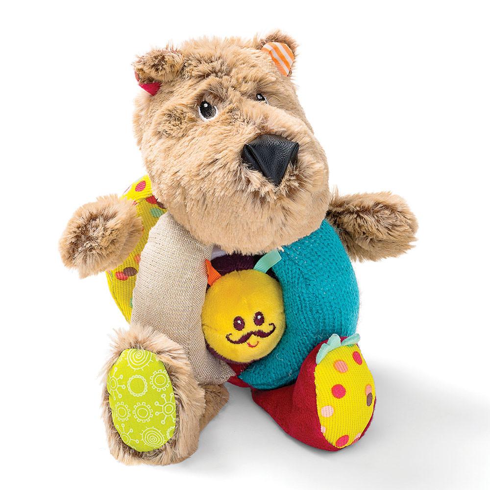 Lilliputiens - Игрушка-погремушка медведь Цезарь