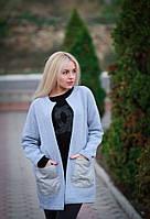 Женский кардиган с накладными стеганными карманами, фото 1