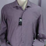 Рубашка мужская приталенная с запонками разм.S